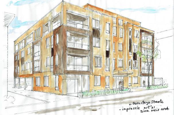 Realisatie van circa 20 appartementen in de Van Beresteynstaete in Veendam